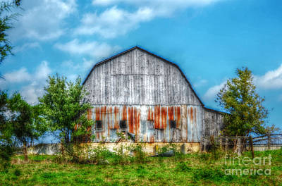 Photograph - Weathered Barn by Peggy Franz