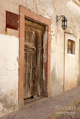 Photograph - Weathered Door Mineral De Pozos Mexico by John  Mitchell