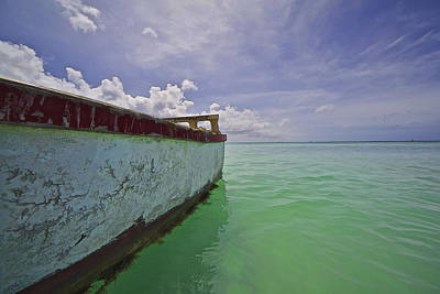 Photograph - Weathered Fishing Boat Of The Caribbean by David Letts