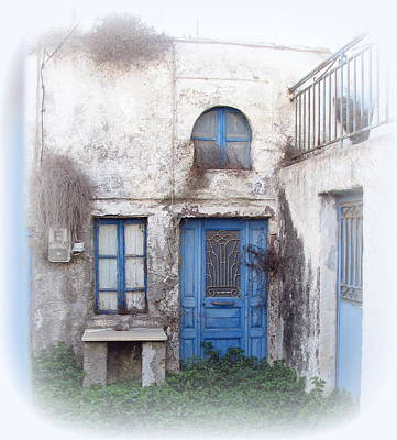 Weathered Greek Building Art Print by Carla Parris