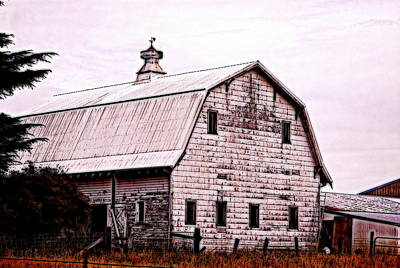 Photograph - Weathered Old Barn by Kathy Sampson