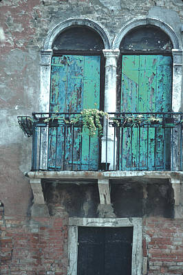 Weathered Venice Porch Art Print by Tom Wurl