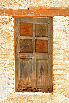 Photograph - Weathered Window Mineral De Pozos Mexico by John  Mitchell