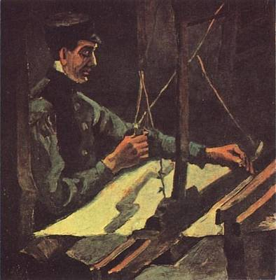 Rights Of Man Digital Art - Weaver Facing Right Half-figure by Vincent Van Gogh