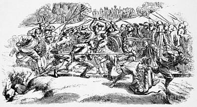 Weaverville Tong War, 1854 Art Print