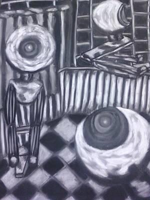 Webcam Frenzy Art Print by Cecelia Taylor-Hunt