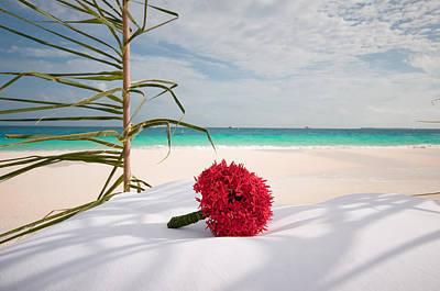 Lyrical Photograph - Wedding Bouquet. Maldivian Resort by Jenny Rainbow