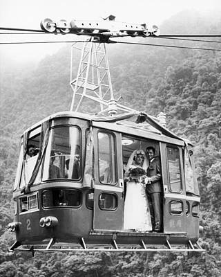 Photograph - Wedding: Cable Car, 1970 by Granger