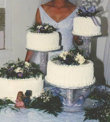 Photograph - Wedding Cake Candid by Mia Alexander