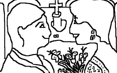 Drawing - Wedding Day by Anita Dale Livaditis