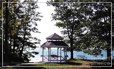 Lake Erie Photograph - Wedding Gazebo By Lake Erie At Evangola State Park by Rose Santuci-Sofranko