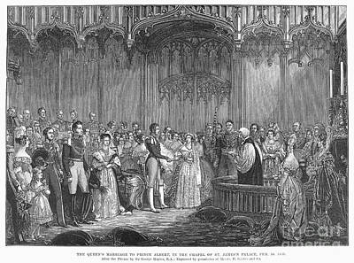 Saxe Photograph - Wedding Of Queen Victoria by Granger