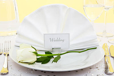 Banquet Photograph - Wedding Place Setting by Richard Thomas