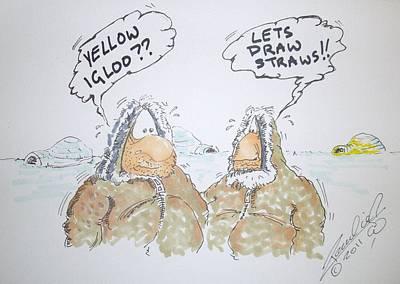 Funnies Drawing - Wee Wee Igloo by Paul Chestnutt