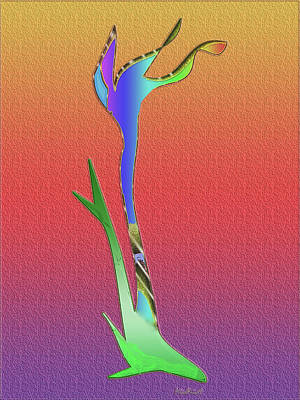 Art Print featuring the digital art Weedy by Asok Mukhopadhyay