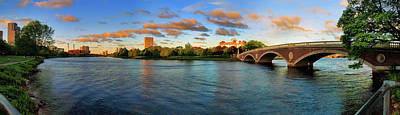 Harvard Photograph - Weeks' Bridge Panorama by Rick Berk