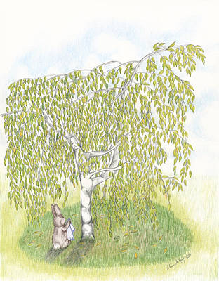 Weeping Birch Art Print by Elaine Read-Cole