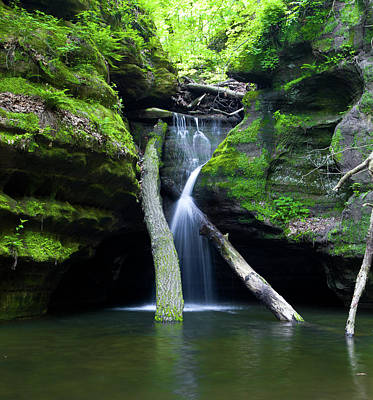 Starved Rock Wall Art - Photograph - Weeping by Jason Wolters
