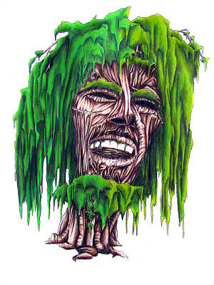 Weeping Drawing - Weeping Marley by Justin Keener