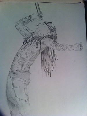 Drawing - Weezy by Mike Eliades