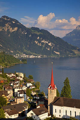 Photograph - Weggis Switzerland by Brian Jannsen