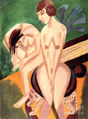 Painting - Zwei Akte Im Raum By Ernst Ludwig Kirchner by Pg Reproductions