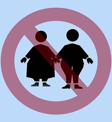 Weight Discrimination, Computer Artwork Art Print