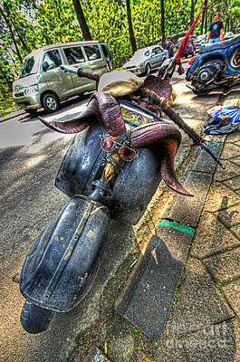 Photograph - Weird Modification On A Scooter by Charuhas Images