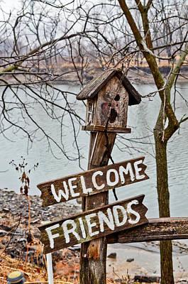 Welcome Friends Art Print by Brenda Becker