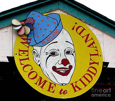 Welcome To Kiddyland Art Print by Maria Scarfone