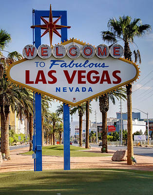 Photograph - Welcome To Las Vegas Cartoony by Ricky Barnard