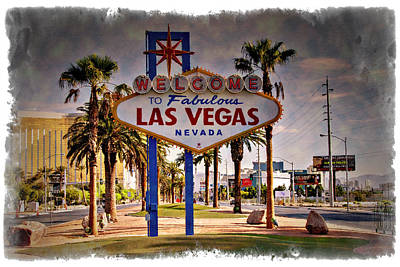 Photograph - Welcome To Las Vegas Sign Series Impressions by Ricky Barnard