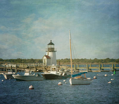 Welcome To Nantucket Art Print by Kim Hojnacki