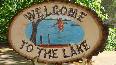Pyrography - Welcome To The Lake by Dakota Sage