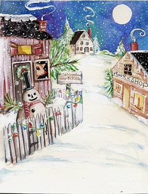 Santa Claus Painting - Welcome To The North Pole by Sylvia Pimental