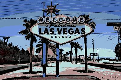 Photograph - Welcome To Vegas  by George Pedro