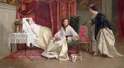 Table Cloth Painting - Welcoming The Visitor by Charles Desire Hue