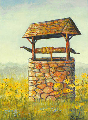 Painting - Well And Flowers by Lou Ann Bagnall