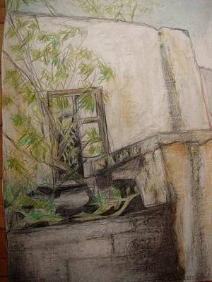 Drawing - Well At The Window by Diane montana Jansson