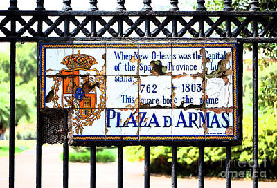 Digital Art - Well Worn Historic Plaza De Armas Tile Plaque On Jackson Square New Orleans Ink Outlines Digital Art by Shawn O'Brien