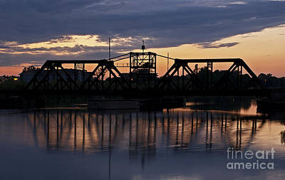 Photograph - Welland Trainbridge by JT Lewis