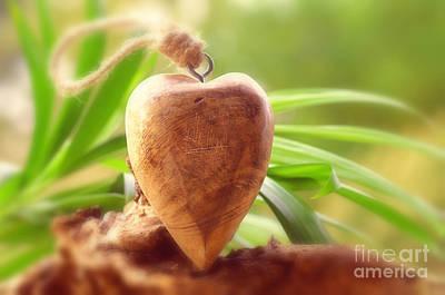 Wellnes Heart Art Print by Tanja Riedel