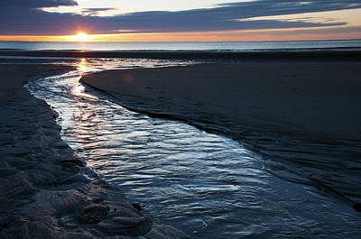 Photograph - Wells Beach Maine Sunrise by Glenn Gordon