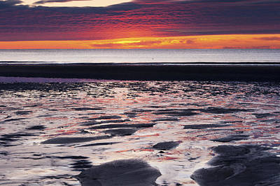 Photograph - Wells Beach Sunrise Reflections by Glenn Gordon