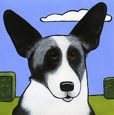 Painting - Welsh Cardigan Corgi by Leanne Wilkes