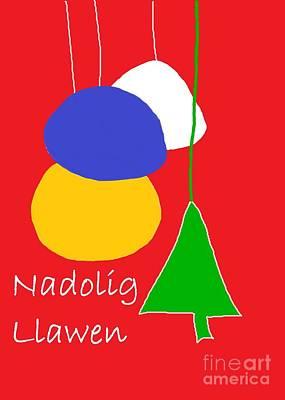 Digital Art - Welsh Christmas Card by Barbara Moignard