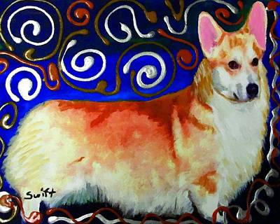 Dog Painting - Welsh Corgi by Char Swift