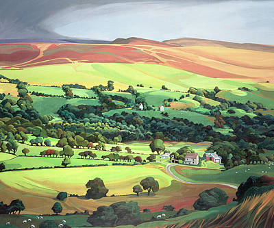 Wales Painting - Welsh Valley by Anna Teasdale