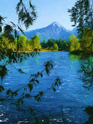 Painting - Wenatchee River by Cindy Wright