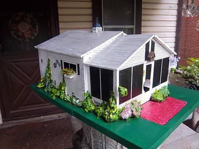 Wendy's Cottage Birdhouse Art Print by Gordon Wendling